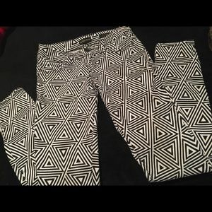 Denim - Scared Virtue Black & White Triangle Jeggings